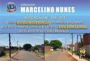 Marcelino indicação 260 de 2016