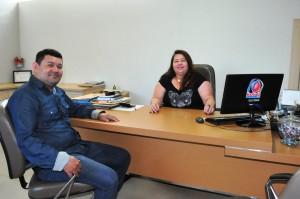 Silvio Dias e Maria Helena na Maraba FM - Foto Lile Correa
